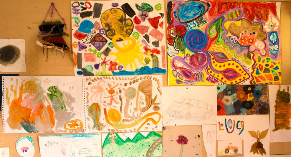 Tamariki School: Some of our artwork.