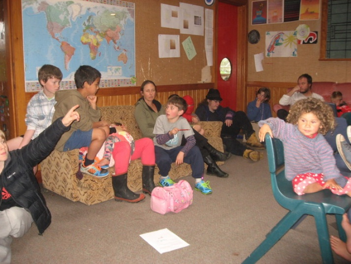 Tamariki School: A whole school meeting is run by the students. A student is the chairperson and people put up their hand to ask for permission to speak to the meeting.