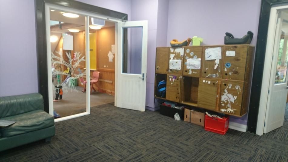 Tamariki School: One of the new spaces in the extension area with lockers for the younger students