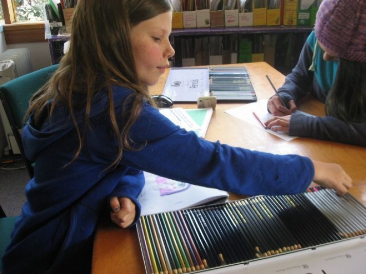 Tamariki School: Drawing and colouring